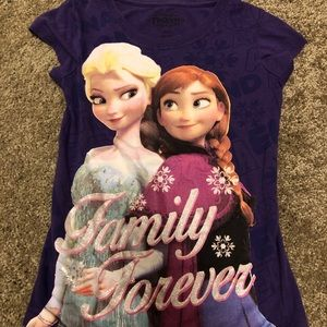 Disney Frozen Anna Elsa girl shirt size XS 4/5
